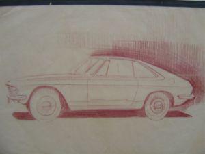 Silvia fastback sketch Nissan Hirataska design museum