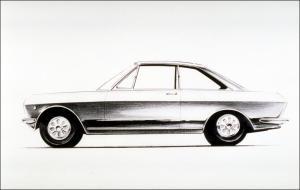 Above and below, images of a couple of early design sketches. The bottom one clearly looks Silvia in an early form, but with a fastback. KIMURA san has recently been showing his sketch. Date of drawings unknown.
